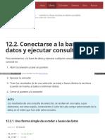 12.2. Conectarse a La Base de Datos y Ejecutar Consultas
