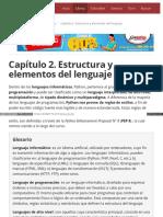 Capítulo 2. Estructura y Elementos Del Lenguaje
