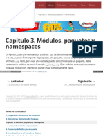 Capítulo 3. Módulos, Paquetes y Namespaces