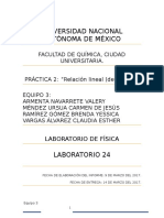 Práctica 2.Relación Lineal (Densidad), Equipo 3