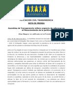 Nota de prensa Transparencia Asamblea 30 3 17