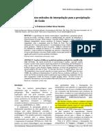 Análise de Diferentes Métodos de Interpolação Para a Precipitação