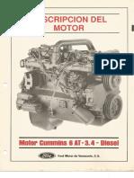 Motor Cummis 6AT 3.4 Diesel