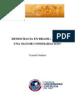 Democracia en Brasil Hacia Una Mayor Consolidación