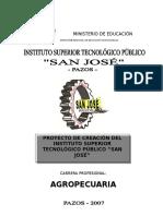 _proyecto de Creación Del Instituto Superior Tecnológico Público San José