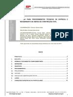 Norma Para Procedimentos Entrega Recebimento Obras Aprovado