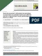 Desarrollo psicomotor y dificultades del aprendizaje en preescolares con probable trastorno por déficit de atención e hiperactividad. Estudio epidemiológico en Navarra y La Rioja