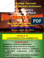 Unidad 2 Contaminación Ambiental 2012