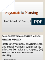 Psychiatric Nursing Notes by Dr. Fausto