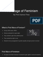 first stage of feminism
