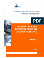 The Impact of the Financial Crisis on European Defence
