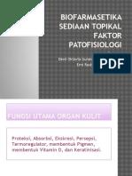 Biofarmasetika Sediaan Topikal- Patofis