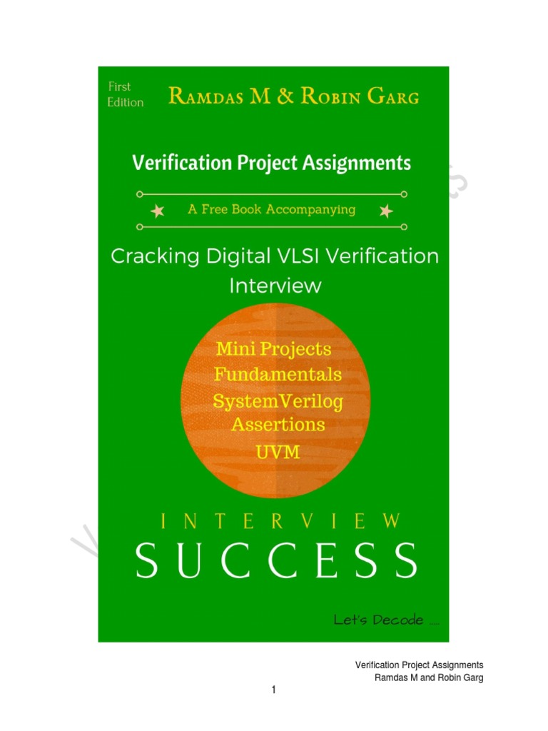 Verification Project Assignments Mar 15 | Computer Engineering
