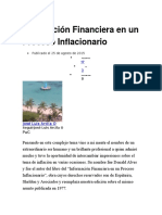 Información Financiera en Un Proceso Inflacionario