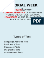 Type of Tests