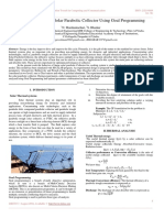 Thermal Analysis of Solar Parabolic Collector Using Goal Programming