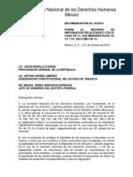 El expediente que la CNDH integró sobre el caso de Ema Molina