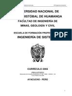 MV1. Currículo P35 Ing de Sistemas