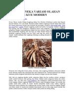 11 Resep Aneka Variasi Olahan Singkong Kue Modern