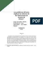 Traduccion Articulo Los problemas del peso explican los retornos de las Operaciones de acarreo de divisas ?
