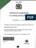 Axxess SwissCorp_Incorporation Documents