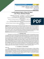 Physicochemical Study of Dayet Er-Romi Lake Water, Khemisset Region