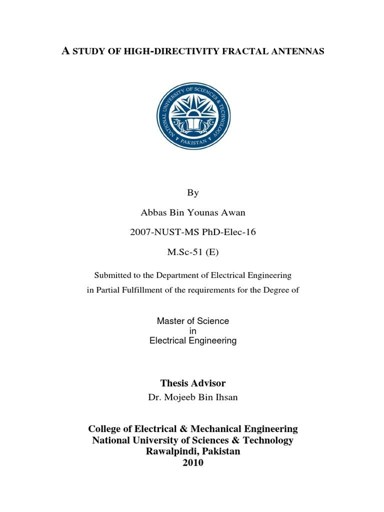 Antenna master thesis