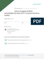 Discurso, Semiótica y Lenguaje Análisis narratológico de series de TV. .pdf