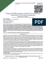 Design and Implementation of Hybrid Test Automation Framework for Web Based Application