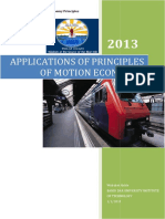 Applications of Principles of Motion Economy