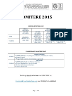 Pachet Complet Admitere 2015