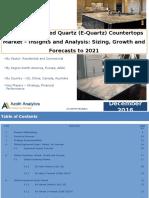 Global Engineered Quartz (E-Quartz) Countertops Market