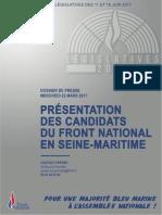 Dossier de Presse - Législatives 2017