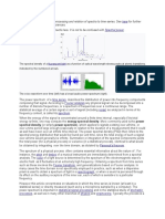This Article Concerns Signal Processing and Relation of Spectra to Time