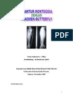 FRAKTUR MONTEGGIA Dengan Fragmen Butterfly