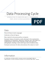 2. Data Processing Cycle