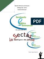 Sectas Los Testigos de Jehova