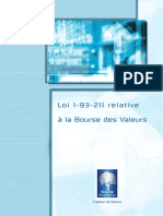 Loi 1-93-211 Relative à La Bourse Des Valeurs