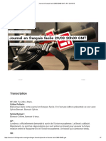 Journal en Français Facile 29_03 20h00 GMT _ RFI SAVOIRS