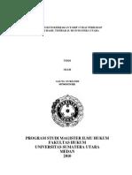 Analisis Hukum Kebijakan Tarif Cukai Terhadap Industri Hasil Tembakau Di Sumatera Utara_Agung Yuriandi