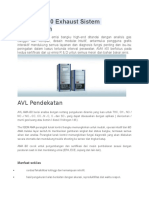 AVL AMA i60 Exhaust Sistem Pengukuran