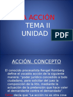 Unidad II Tema II La Acción