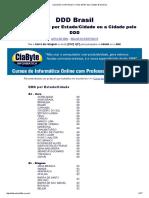 Lista Com DDS Do Brasil