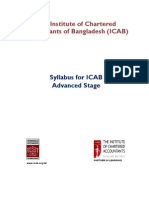 Syllabus of Advanced Stage for ICAB