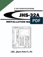 JRC JHS-32A VHF Installation Manual