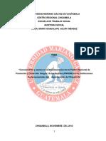 Portada Informe de Auditoria Social Pnpdim