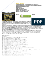 Download Book and PDF Warren Buffett - 41 Fascinating Facts About Life & Investing Philosophy the Lessons From a Legendary Investor