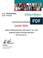 Certificate of Attendance for Alberto