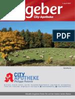 Ratgeber aus Ihrer City-Apotheke – April 2017