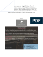 TOP 5 Des Meilleures Agences de Publicité Au Maroc